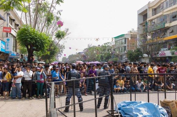 Ncell, den überstora mobiloperatören i Nepal (ägt av TeliaSonera) syns överallt, alltid. Här en endagsfestival.