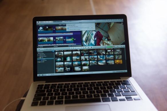 Filmredigering....