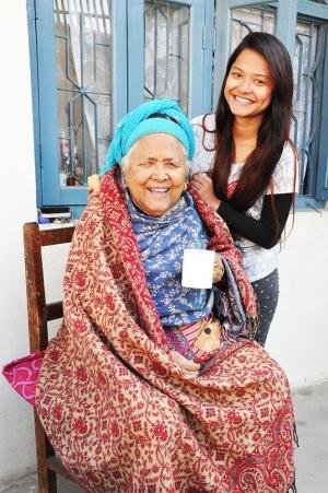 Yamuna and her grandmother