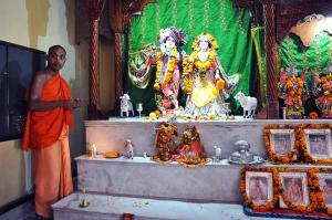 Hare Krishna altar in the temple